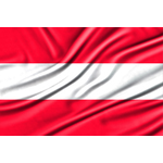 Wavy flag of Austria