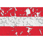 Flag of Austria peeled off
