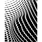 Wavy halftone pattern graphics
