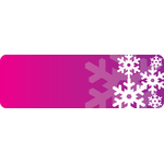 Purple banner with snowflakes