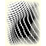 Abstract black halftone graphics