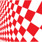 Checkered pattern red and white
