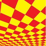 Checkered pattern red and yellow
