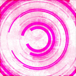 Abstract pink circles