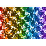 Colored dotted pattern graphics