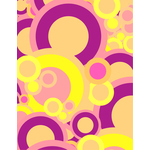 Purple and yellow retro background