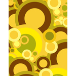 Green and yellow retro circles