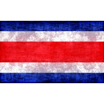 Flag of Costa Rica with ink stains