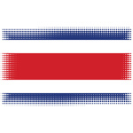 Costa Rica flag halftone effect