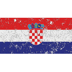 Croatian flag peeled off