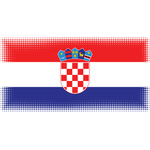 Croatian flag halftone effect