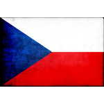 Czech flag with greasy texture