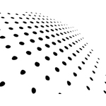Black dots on white background