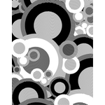 Black and white retro circles