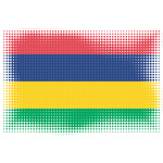 Mauritian flag in dotty patter