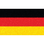 German flag with glowing pattern