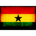 Flag of Ghana with grunge texture