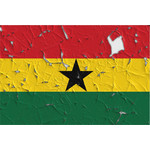 Ghana flag with holes