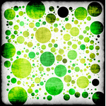 Background with green circles