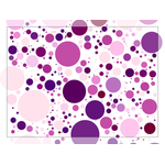 Purple and pink dots