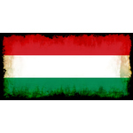 Flag of Hungary with burned edges