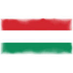 Flag of Hungary halftone pattern