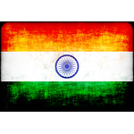 Flag of India with dirty texture