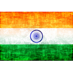 Indian flag grunge texture