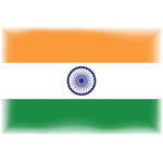Indian flag with halftone edges