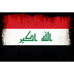Flag of Iraq with burned edges