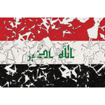 Flag of Iraq damaged
