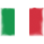 Flag of Italy halftone effect