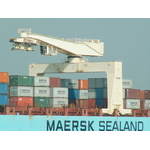 Maersk cargo ship in a port