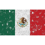 Damaged flag of Mexico
