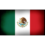 Flag of Mexico inside black frame