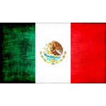 Mexican flag with grunge overlay