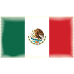 Mexican flag with halftone pattern
