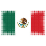 Flag of Mexico halftone pattern