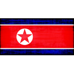 North Korea flag grunge texture