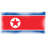 North Korea flag halftone pattern