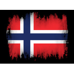 Norwegian flag with black frame