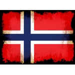 Norwegian flag with burned edges