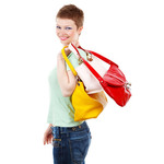 Lady carrying bags
