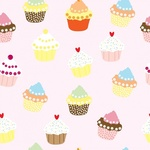 Wallpaper Pattern with cupcakes