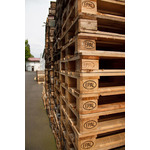 Wooden pallets close up