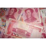 Chinese money close up