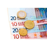 Euro banknotes and coins