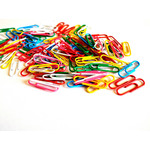 Multicolored paperclips