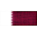 Grunge texture flag of Qatar