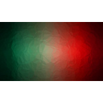 Red and green background with glass texture